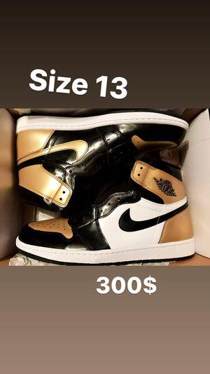 "Air Jordan Retro 1 NRG "" Gold Toe "" for Sale in St. Louis, MO"