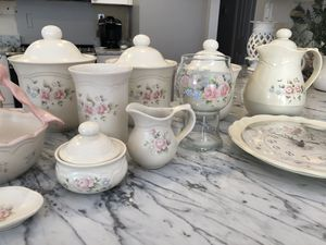 Assorted Pfaltzgraff Tea Rose Items for Sale in Vienna, VA