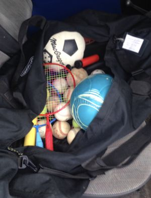 Sports Equipment Bag w/lots of equipment!! for Sale in Gresham, OR