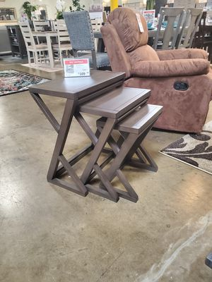 3 PC End Table Set, Brown for Sale in Santa Ana, CA