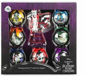 Disney Nightmare Before Christmas Ball Ornament Set Jack Skellington Tree Topper for Sale in Fontana, CA