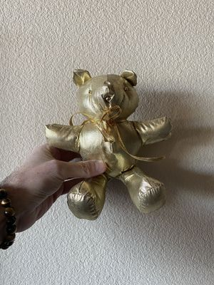 Gold Christmas tree ornament teddy bear stuffed animal toy for Sale in Los Angeles, CA