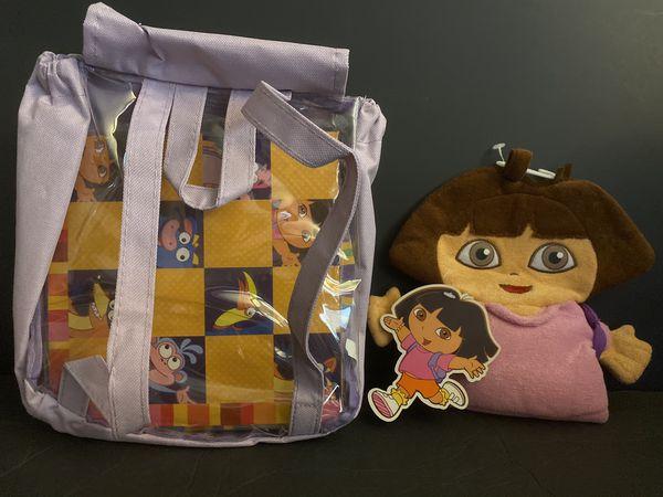 Dora Bundle: Hand puppet + Backpack (w/ games inside)