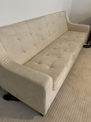 Ivory couch, great condition for Sale in Leesburg, VA