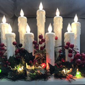 Winter Frost Candle Centerpiece. Centro De Mesa Con Velas Invernales for Sale in Garden Grove, CA