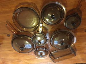 Vintage 14 pc Corning Pyrex cooking set - - Visions Brown / Amber for Sale in East Point, GA