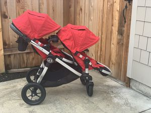 Baby Jogger city select double stroller, with glider board. Fully loaded. for Sale in Vancouver, WA
