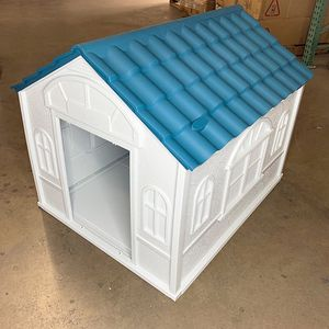 $85 (new in box) waterproof plastic dog house for medium size pet indoor outdoor cage kennel 39x33x32 inches for Sale in Whittier, CA
