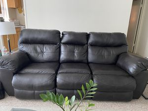 Faux Leather 8 foot Recliner Couch for Sale in San Mateo, CA