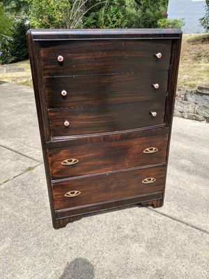 Large Antique Wooden Dresser Tall boy Drawers for Sale in Portland, OR