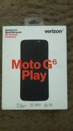 Verizon Prepaid Moto G6 Play (new) for Sale in Sacramento, CA