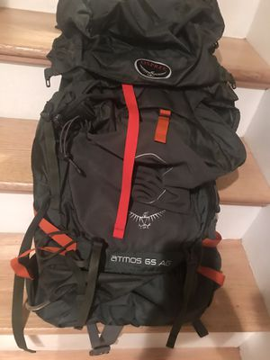 New OSPREY Atmos AG65 Men's Back Packing Backpack for Sale in Vienna, VA