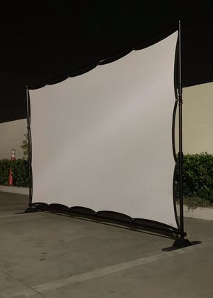 NEW 120 Inch Wrinkle Free Indoor Outdoor Projector Screen with 10x8 Feet Telescopic Banner Stand and Carrying Bag for Sale in Whittier, CA