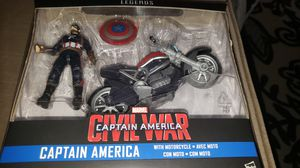 Marvel Legends Avengers Civil War Captain America with Motorcycle for Sale in Chicago, IL