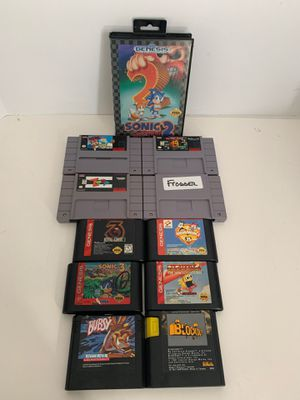 4 Super Nintendo games and 7 sega genesis for Sale in Davenport, FL