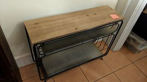 Wood and metal table/shelves for Sale in Fort Myers, FL