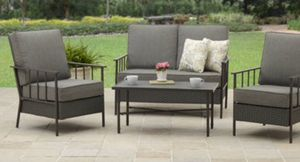 New!! 4 pc cushioned outdoor coffee table set, conversation patio set, outdoor furniture for Sale in Phoenix, AZ