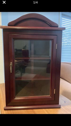 Corner Cabinet -cherry wood with glass door New for Sale in West Los Angeles, CA