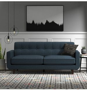 """🔥Brand NEW-Rivet Sloane Mid-Century Modern Sofa with Tufted Back, 79.9""""W-Denim for Sale in Groveport, OH"""