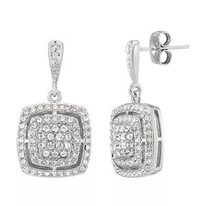 Square Drop Earrings w/ Crystals & Diamonds for Sale in Austin, TX