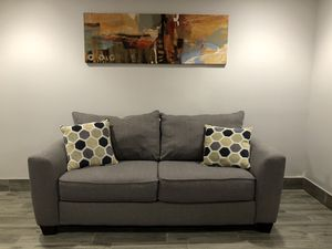 Gray Couch Loveseat Sofa for Sale in Brooklyn, NY