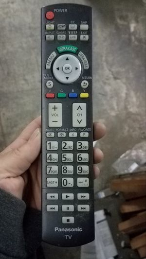 LIKE NEW! PANASONIC PLASMA LED LCD SMART TV REMOTE CONTROL CONTROLLER for Sale in West Bloomfield Township, MI