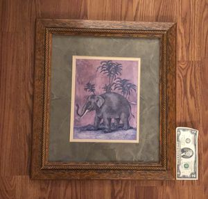 Framed art - elephant for Sale in Silver Spring, MD