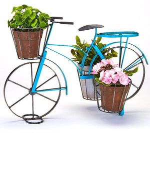 Farmhouse Blue Bicycle Planter for Sale in Fullerton, CA