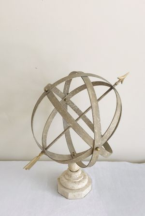 Armillary Metal Sphere with Marble Base for Sale in Boynton Beach, FL