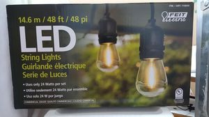Feit Electric 48ft Outdoor String Lights. for Sale in Yorba Linda, CA