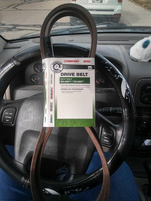 (4) NEW-MTD Genuine Parts - Drive Belt-$15 each for Sale in Colorado Springs, CO