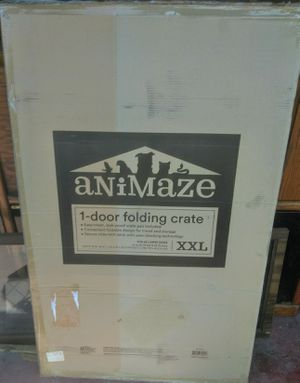 Animaze XXL 1 door folding crate for Sale in Beaumont, TX