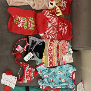 10pc Bundle Christmas Dog Clothes NEW $40 For Everything for Sale in San Francisco, CA