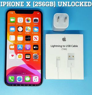 Iphone X (256GB) Factory-UNLOCKED + Accessories for Sale in Falls Church, VA