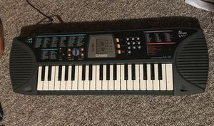Casio 37 key piano keyboard with adapter for Sale in Fairmont, WV