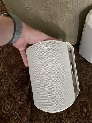 2x Polk audio atrium 4 white outdoor speakers for Sale in Beaverton, OR