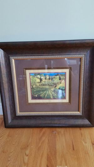 Framed painting with glass for Sale in Cold Spring, KY