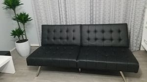 Leather futon couch for Sale in Hialeah, FL