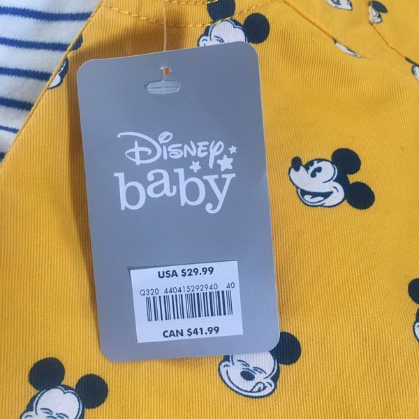 New Mickey Mouse Overalls (9-12 Months)