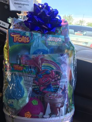 Trolls girl basket for Sale in Dallas, TX