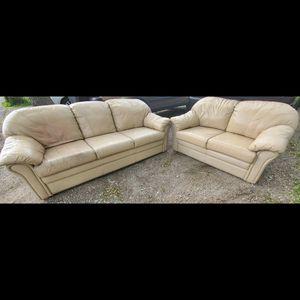 Light tan couch for Sale in Santa Clarita, CA