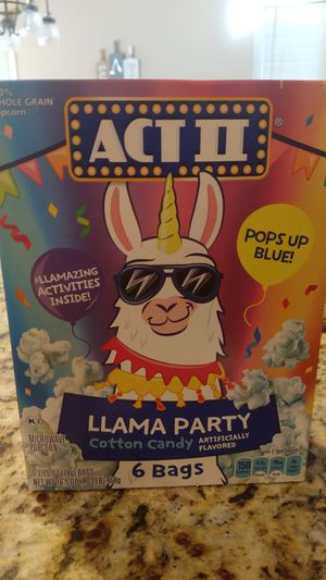 ACT 2 Llama party popcorn for Sale in Channahon, IL