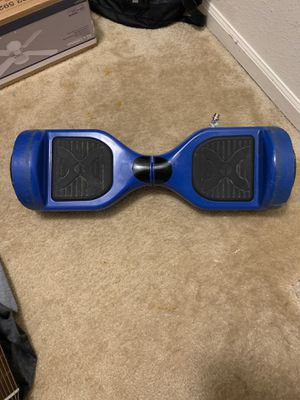 Blue hoverboard used Bluetooth little damage for Sale in Imperial, MO