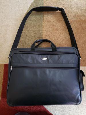 Targus Laptop Computer Bag Black Shoulder Strap 17 X 14 Carryall Leather for Sale in Findlay, OH