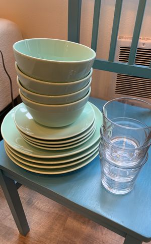 Stoneware Dishes 12pc for Sale in Portland, OR