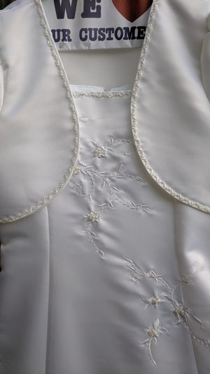 Girl size 12 white dress for Sale in South Hill, WA