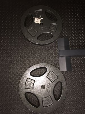 Brand new 50 pound weight plates for Sale in Orlando, FL