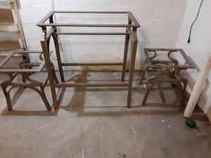 2 end tables and one console table for Sale in Mitchell, IL