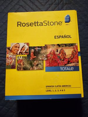 Rosetta Stone Spanish (Latin America) Level 1-5 Set Version 4 for Sale in Redondo Beach, CA