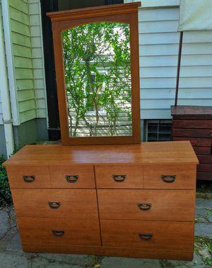 Mid Century Modern 6 Drawer Dresser with mirror $150 OBO for Sale in Arlington, VA